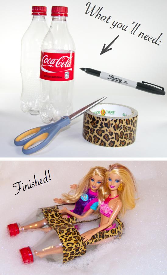 DIY Barbie Bottle Boat