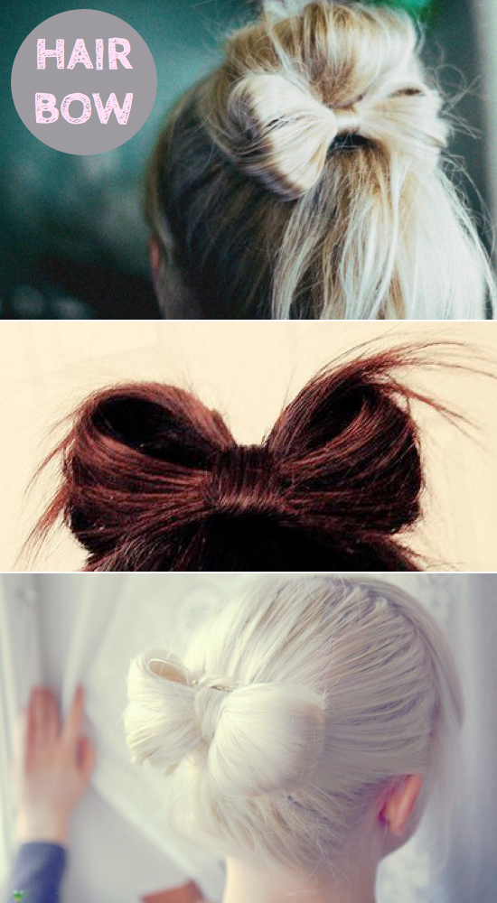 How To Do Hair Bow Hairstyle