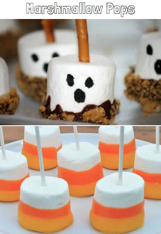 Marshmallow Halloween Snack Ideas
