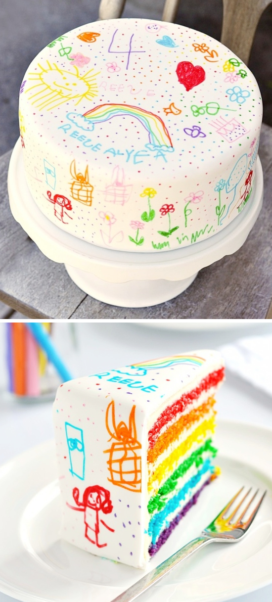 Doodle Cake!! Let the kids decroate it with food decorating pens.