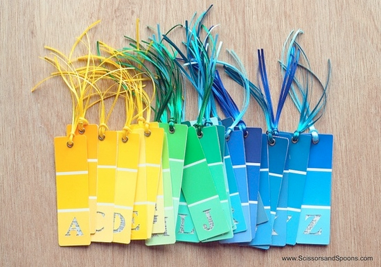 18 Paint chip craft ideas. Why hadn't I thought of these??