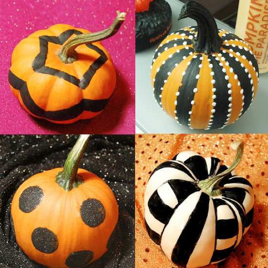 Lots of really cute pumpkin ideas that don't require any carving!