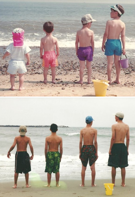 recreating old family photos