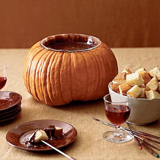 Pumpkin Bowl Recipes & Ideas ~ Fondue!