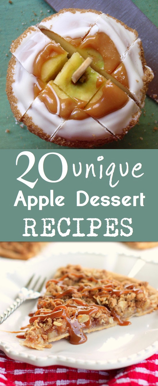Fun and easy apple dessert recipes for fall! Lots of creative ideas.