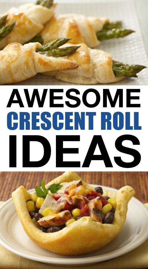 Quick, easy and fun crescent roll recipes and ideas. Lots of creative ways to use Pillsbury Crescent roll dough-- everything from snacks to breakfast, dinner and more!