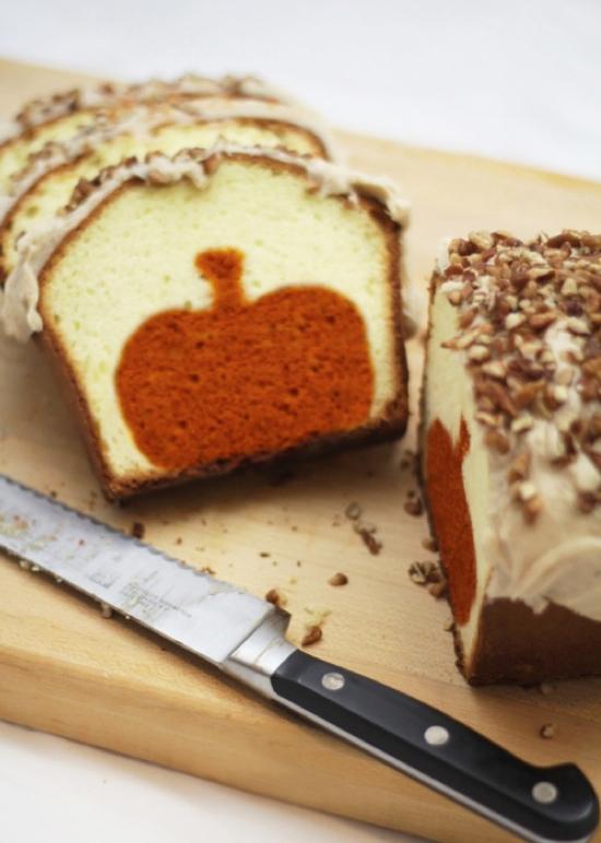 Pumpkin Pound Cake Recipe -- A fun and creative fall dessert recipe!